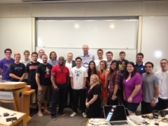 LA Lakers GM, Mitch Kupchak and the Sports Business Students at UCLA's Center For MEMES