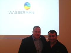 UCLA's Mark Francis and Ted Yeschin, Senior Director of Business Development for Wasserman