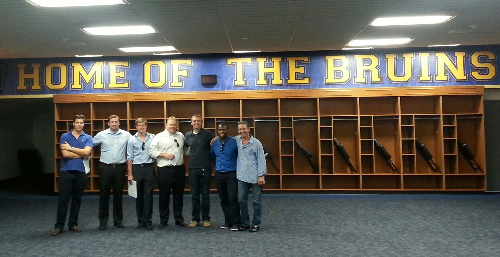 UCLAs Sports Business Program Inside Football Locker Room At The Rose Bowl